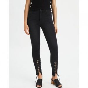American Eagle Highest Rise Jegging Lace Up Ankle